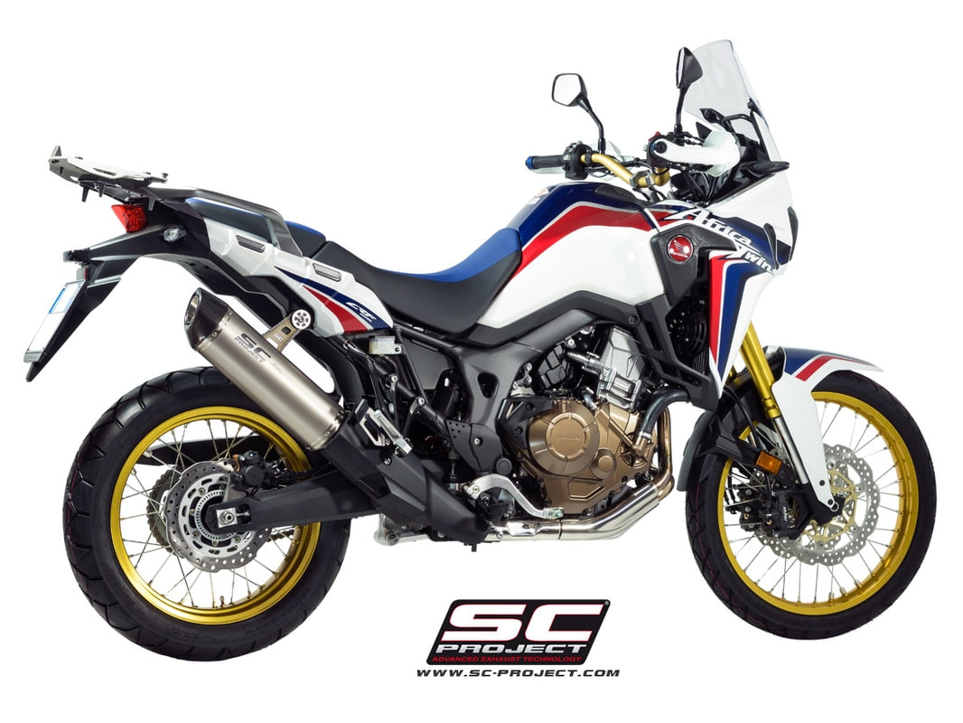 sc project exhaust for crf1000l africa twin. Black Bedroom Furniture Sets. Home Design Ideas